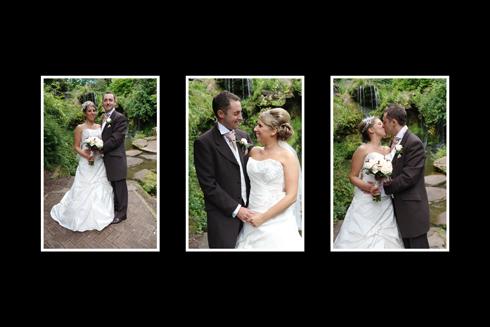 Wedding album design page example