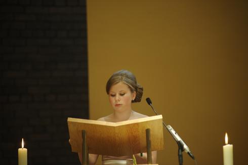 Reading during wedding service image