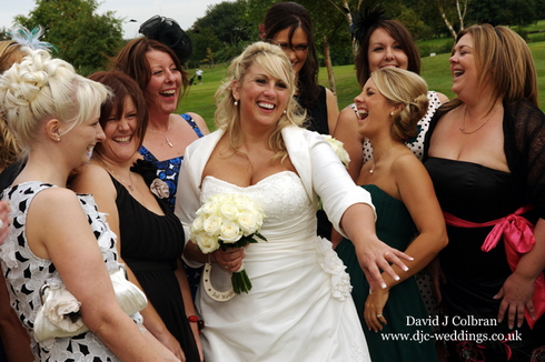 Bride and girlfriends image