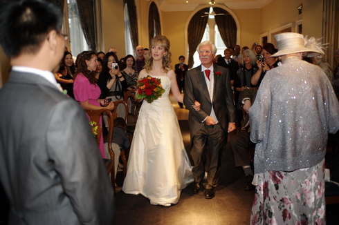 Walking up the aisle photograph