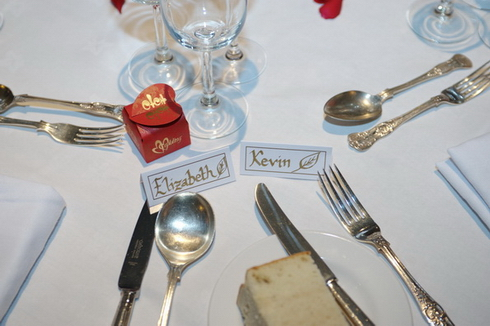 Table setting details photography