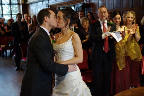 Wedding kiss image