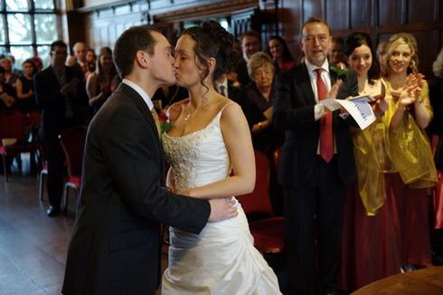 Wedding kiss image