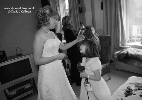 Bridal preparations photograph