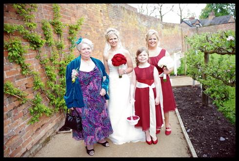 Bridal party arrives photo