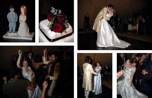 First dance and cake photo