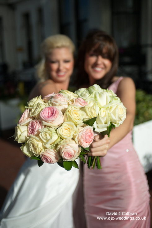 Bride and bridesmaid images