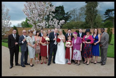 Formal group wedding photography