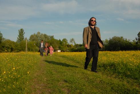 Rural country English wedding