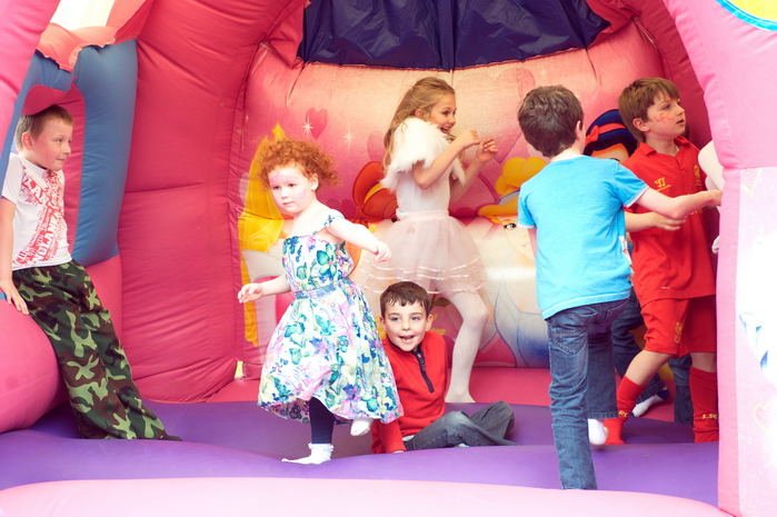Merseyside photographer bouncy castle photo