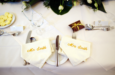 wedding breakfast table setting