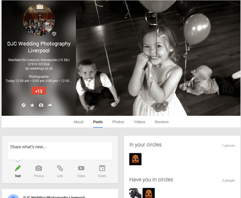 Liverpool wedding photographer on Google Plus