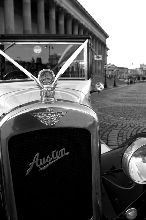 Posh wedding car photo