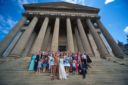 St Georges Hall wedding group photograph
