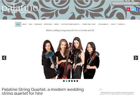 Wedding music for hire string quartet