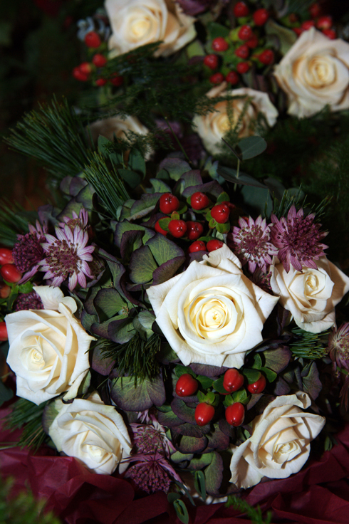 winter wedding flowers Liverpool England