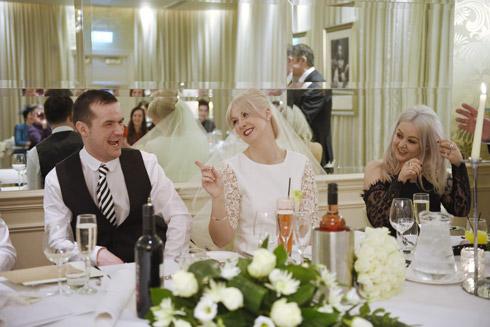 Couple reception wedding