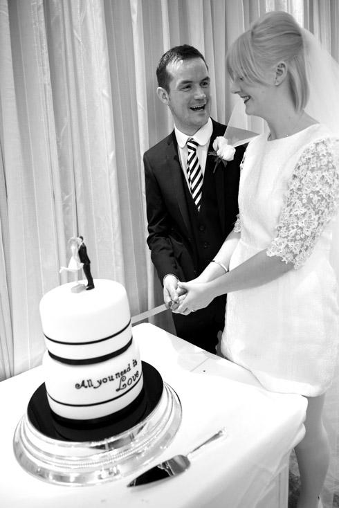 Cutting the cake photo